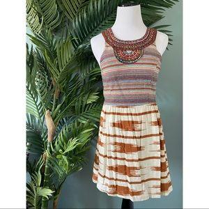 2 for $30/ Lucky Brand tribal print beaded dress
